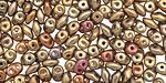 Matte Metallic Gold Iris SuperDuo 2x5mm Seed Bead