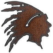 The Lipstick Ranch Rusted Iron Chief w/ Headdress 57mm