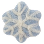 Light Blue Felt Snowflake 45mm