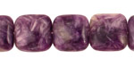Charoite Puff Square 14mm