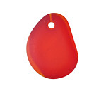 Cherry Red Recycled Glass Large Pebble Pendant 23-25x27-33mm