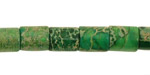 Green Impression Jasper Barrel 10x8mm