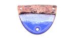Gaea Copper Sky Blue Enamel w/ Lotus 3-Hole Focal Link 26x19mm