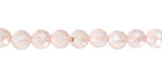 Madagascar Rose Quartz Faceted Round 6mm