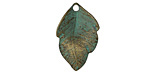Zola Elements Patina Green Brass Little Leaf 15x23mm