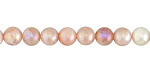 Peach Moonstone w/ AB Luster Round 6mm