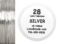 Parawire Non-Tarnish Silver 28 Gauge, 15 Yards