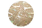 Lillypilly Gold Floral Garden Mother of Pearl Round Cabochon 31mm