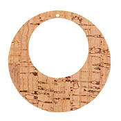 Natural Cork Gypsy Hoop 51mm