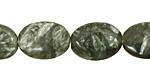 Seraphinite Flat Oval 18x13mm