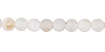 White Agate (matte) Round 6mm