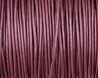 Berry (metallic) Round Leather Cord 1.5mm