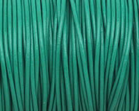 Light Green Round Leather Cord 2mm