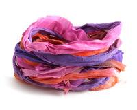 Bougainvillea 100% Silk Sari Ribbon