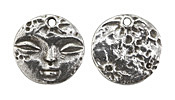 Green Girl Pewter Full Moon Pendant 24mm