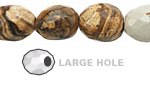 Picture Jasper Faceted Nugget (Large Hole) 14-16x10-12mm