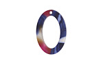 Zola Elements Twilight Matte Acetate Oval Ring 15x22mm