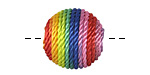 Rainbow Thread Wrapped Bead 18mm