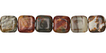 Red Creek Jasper Puff Square 8mm