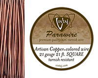 Vintaj Artisan Copper Square Parawire 21 gauge, 21 feet