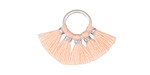Apricot Small Fanned Tassel on Ring w/ Silver Finish 29x19mm