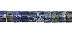 Midnight Blue Impression Jasper Heishi 5x8mm