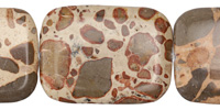African Brown Rhyolite Thin Pillow 40x30mm
