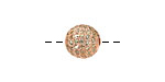 Rose Gold (plated) & Jonquil CZ Micro Pave Round 10mm