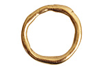 Nunn Design Antique Gold (plated) Grande Organic Hoop 28.5x30mm