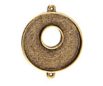 Nunn Design Antique Gold (plated) Grande Circle Bezel Toggle Link 39x33mm