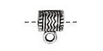 Pewter Zigzag Bail (Large Hole) 9x12mm