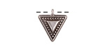 Zola Elements Antique Silver (plated) Beaded Triangle Charm 14x16mm