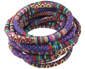 Purple Round Woven Cotton Cord 6mm