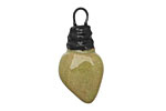 Gaea Ceramic Juju Lime on Tan Small Bulb Charm