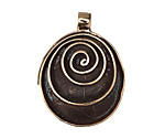 Saki Bronze Spiral Drop Pendant 27x35mm