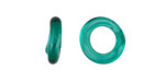African Recycled Glass Sea Green Dogun Mini Ring 10-14mm