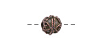 Greek Bronze (plated) Ornate Round 9mm