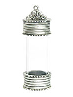 Nunn Design Antique Silver (plated) Glass Keepsake Pendant 59x20mm