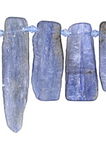 Kyanite Graduated Freeform Rectangle Drop 6-17x17-56mm