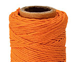 Orange Hemp Twine 20 lb, 205 ft