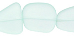 Seafoam Recycled Glass Flat Freeform 21-23x18-20mm