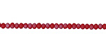 Matte Red Coral w/ Silver Luster Crystal Faceted Rondelle 3mm