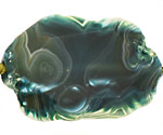 Blue Green Agate Natural Edge Freeform Faceted Slab 48-74x33-58mm