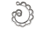 Zola Elements Antique Silver (plated) Scalloped Swirl Focal 25x38mm