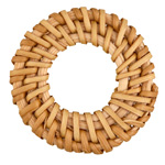 Natural Rattan-Style Woven Ring Focal 40-46mm