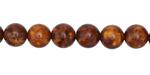 Tibetan (Dzi) Agate (rust) Molten Pattern Round 8mm