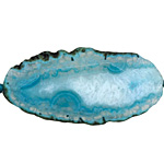 Turquoise Agate Natural Edge Freeform Faceted Slab 43-67x26-36mm