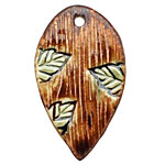 Earthenwood Studio Ceramic Lumber Leaf Pendant 27-28x48-50mm