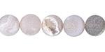 Gray Agate (matte) Round 10mm