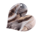 Zola Elements Mink Marbled Acetate Heart Focal 35mm